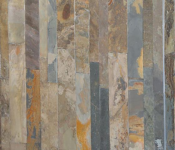 Parallels Cladding - Silver Quartzite de Island Stone | Mosaïques en pierre naturelle