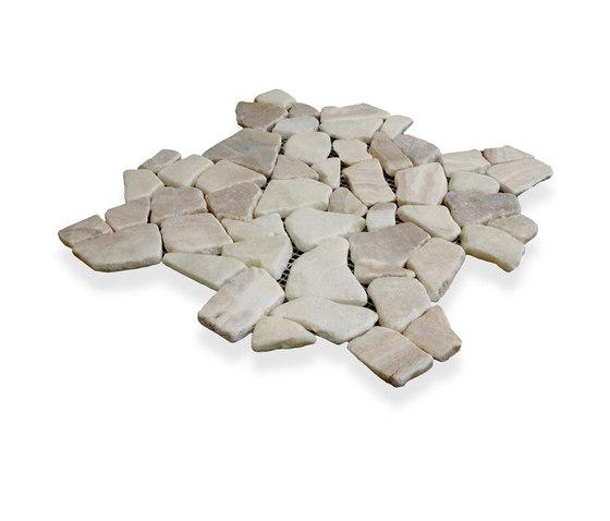 Random Tiles - Latte Quartz by Island Stone   Natural stone mosaics