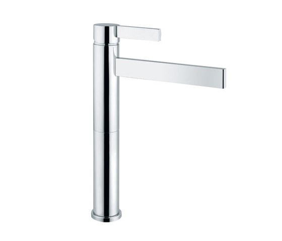 Metreaux | Mono Tall Smooth Bodied Basin Mixer by BAGNODESIGN | Wash basin taps