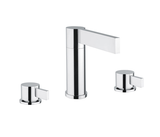 Metreaux | 3 Hole Basin Mixer by BAGNODESIGN | Wash basin taps