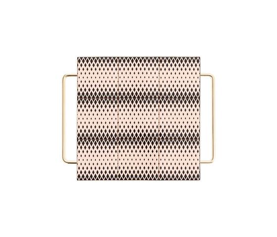 Mix & Match Table Gold black&white von GAN | Tabletts