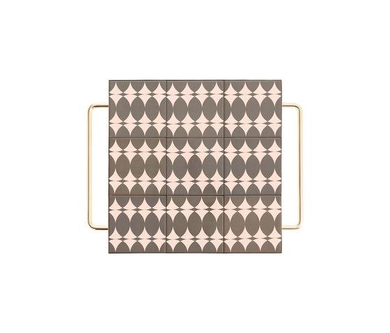Mix&Match Mesa gris con estrucutra bañada en oro de GAN | Bandejas