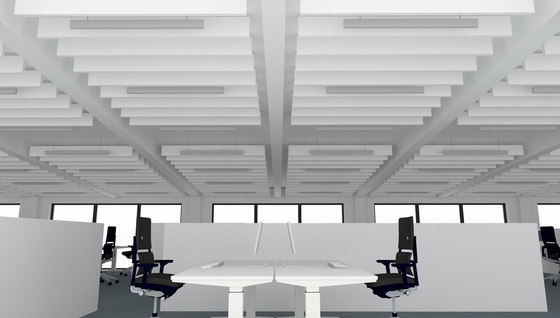 APN Lamella A rectangle by apn acoustic solutions | Illuminated ceiling systems
