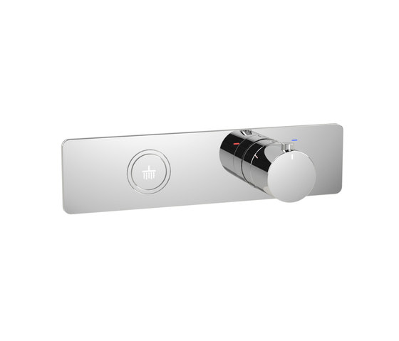 Toko   Round Horizontal 1 Outlet Thermostatic Shower Mixer by BAGNODESIGN   Shower controls