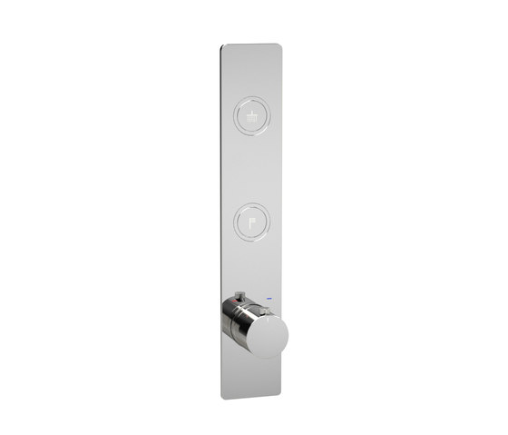 Toko | Round Vertical 2 Outlet Thermostatic Shower Mixer by BAGNODESIGN | Shower controls