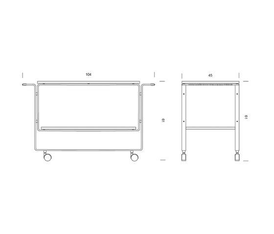 HB 128 Bar Cart de Lange Production | Carritos