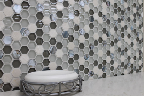 Sea Jewel Crème by Cancos | Glass mosaics