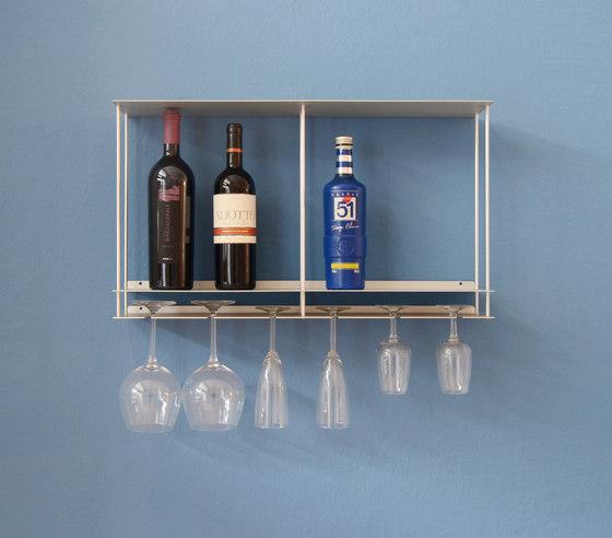 Cantinetta glasses and bottles holder by Kriptonite | Shelving