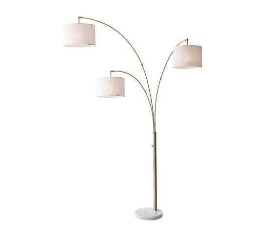 Bowery 3-Arm Arc Lamp de ADS360 | Lámparas de pie