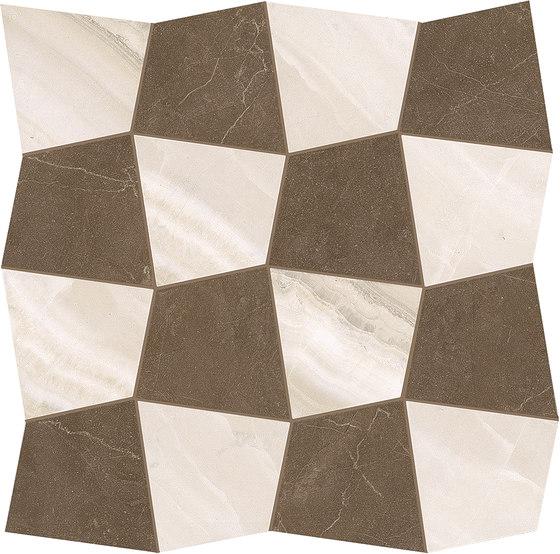 Marmore Mosaico San Marco Wiligelmo Beige / Canova Marrone de EMILGROUP | Mosaicos de cerámica