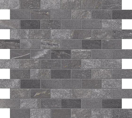 Tracce Mosaico Domino Dark Grey di EMILGROUP   Mosaici ceramica