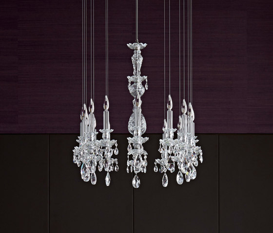 Balance 16 oval by Windfall   Chandeliers
