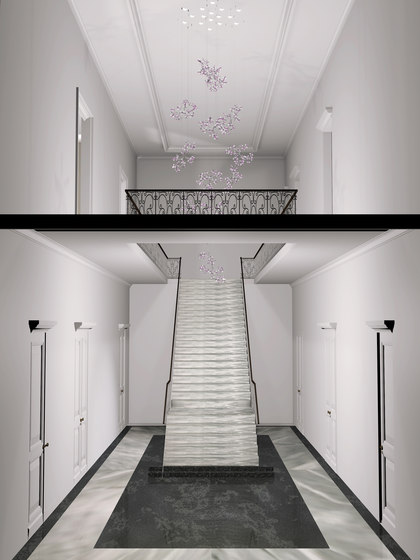 Eden Bespoke Staircase by Windfall | Chandeliers