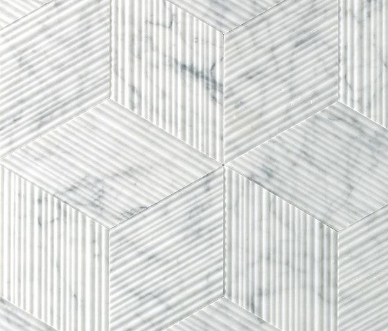 Romboo Bianco Carrara by Salvatori | Natural stone panels
