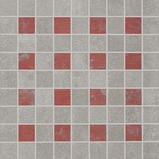 Nr. 21 Mosaicocolors Grey-Red de EMILGROUP | Mosaïques céramique