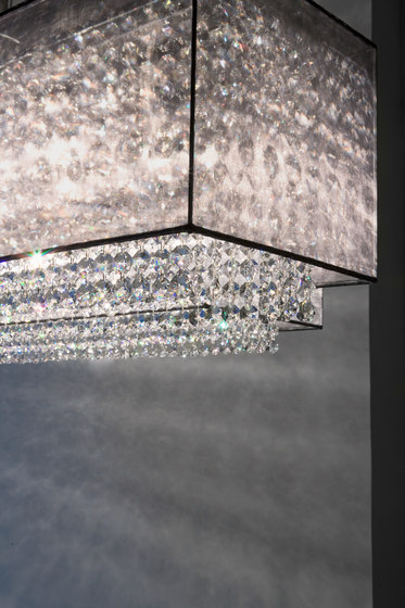Scarlett Square 100x30x26+2 by Windfall | Suspended lights