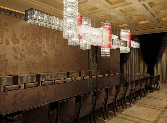 Scarlett Bespoke Dining by Windfall | Suspended lights