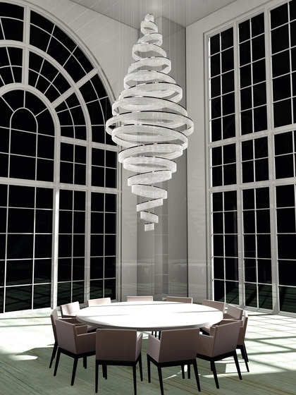 Swirl Bespoke Dining by Windfall | Chandeliers