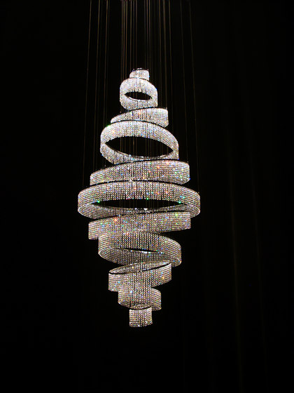 Swirl Round Double 90x200 by Windfall | Chandeliers