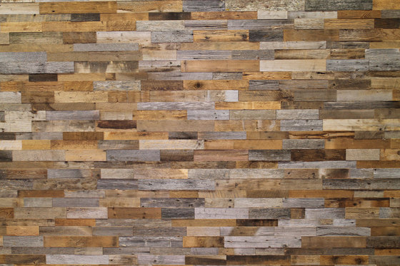 Interlock Reclaimed Barnwood Eco-Panels de Architectural Systems   Planchas de madera