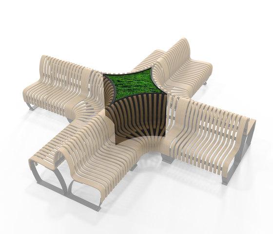 Radius Planter Divider Crossroads 4 Small by Green Furniture Concept | Privacy screen