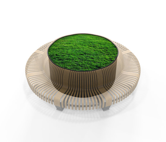 Radius Planter Divider Circle by Green Furniture Concept | Privacy screen