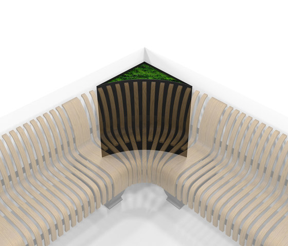 Radius Planter Divider Corner by Green Furniture Concept | Privacy screen