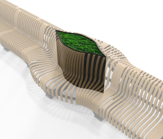 Radius Planter Divider Eye by Green Furniture Concept | Privacy screen