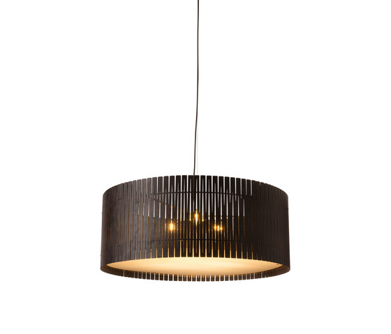 Kerflight D9 Drum Pendant Espresso by Graypants | Suspended lights