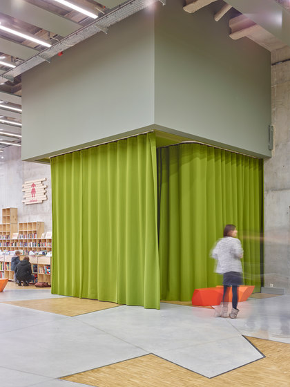 Acoustic curtains by Texaa® | Sound absorbing fabric systems
