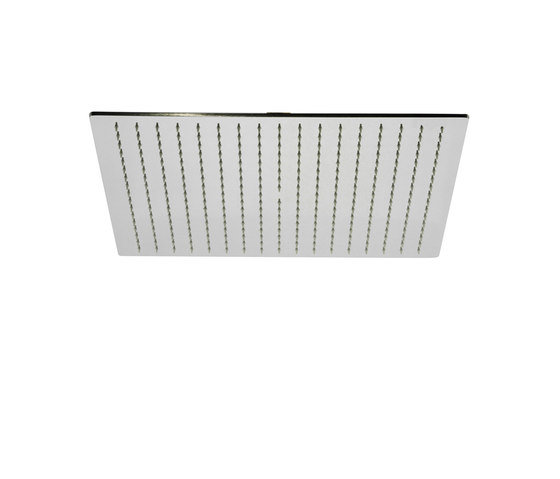 Contemporary   Square rainshower head Ø 300mm, 400mm or 500mm by rvb   Shower controls