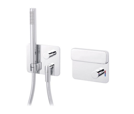Slide   Wall-mounted thermostatic control panel by rvb   Shower controls