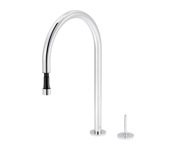Plug | Single-lever kitchen mixer with pull-out mousseur by rvb | Kitchen taps