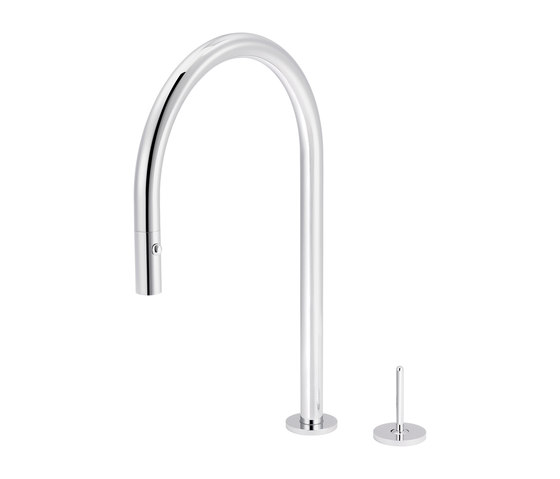 Plug | Single-lever mixer for kitchen with integrated handshower by rvb | Kitchen taps