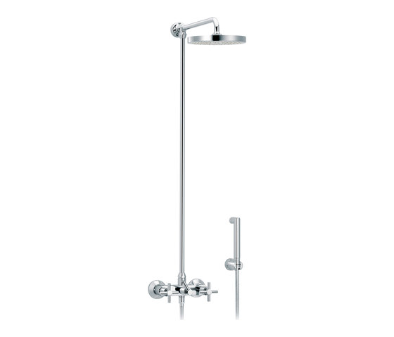 Sully | Set shower mixer, Ø200mm and handshower by rvb | Shower controls