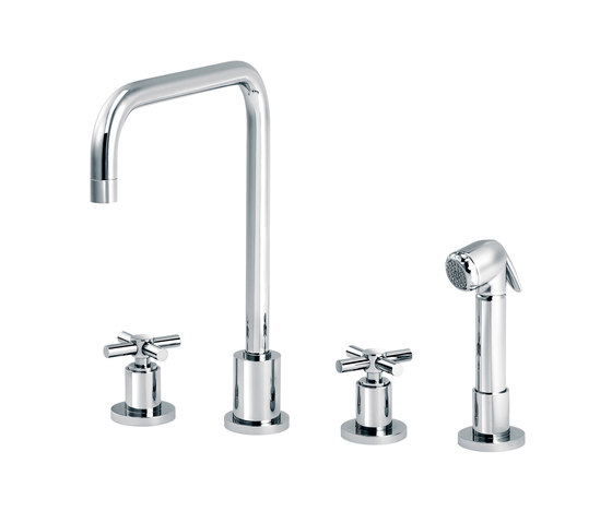 Sully | 3-hole kitchen mixer, handshower, spout in U by rvb | Kitchen taps