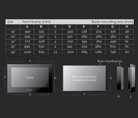 """Professional 24"""" Bathroom TV Mirror Finish by ProofVision   TV sets"""