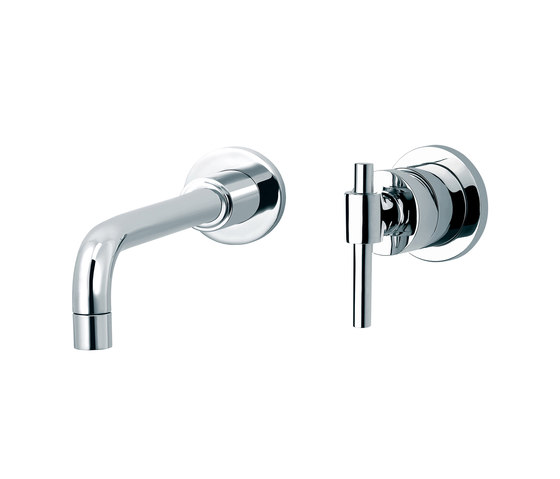 Dynamic | 3-hole wall-mounted sink mixer by rvb | Wash basin taps