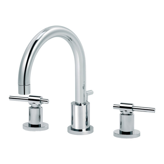 Dynamic | 3-hole sink mixer, with waste by rvb | Wash basin taps