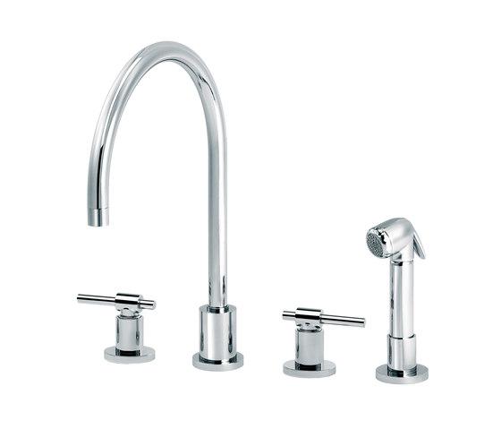 Dynamic | 3-hole kitchen mixer, handshower by rvb | Kitchen taps
