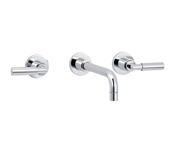 Cliff | 3-hole wall-mounted sink mixer by rvb | Wash basin taps