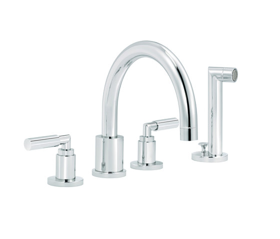 Cliff | 4-hole bath and shower set, handshower by rvb | Bath taps