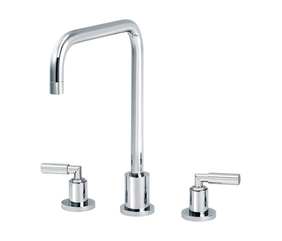 Cliff | 3-hole kitchen mixer, spout in U by rvb | Kitchen taps