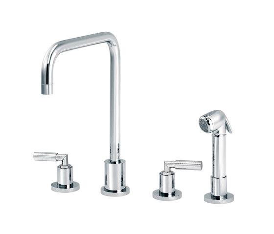 Cliff | 3-hole kitchen mixer, handshower, spout in U by rvb | Kitchen taps