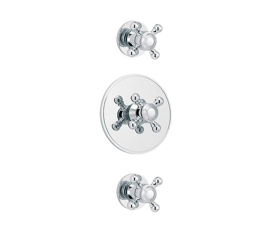 1920-1921 | Concealed shower thermostat with 2 valves by rvb | Shower controls