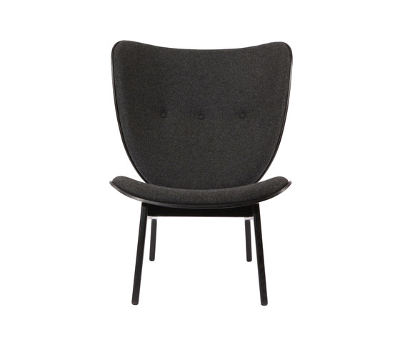 Elephant Chair, Black / Wool: Coal Grey 068 by NORR11 | Armchairs