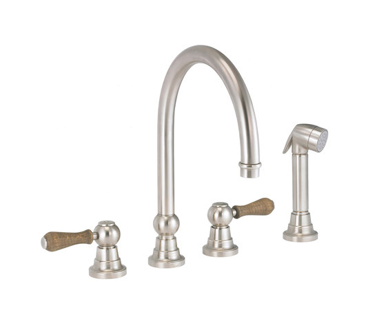 Flamant Butler   4-hole kitchen mixer, handshower, great spout by rvb   Kitchen taps