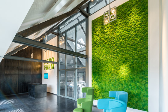 Greenhill Moss walls de Freund | Objetos fonoabsorbentes