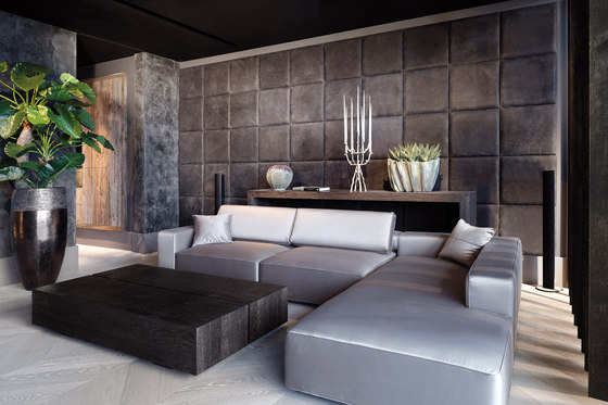 Leather wall di Freund | Carta parati / tappezzeria