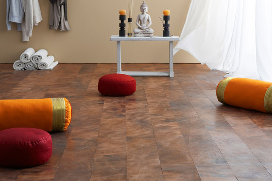 Leather floor by Freund | Leather tiles